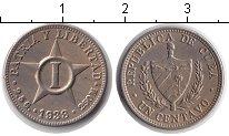 Изображение Монеты Куба 1 сентаво 1938 Медно-никель XF