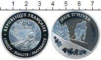 Изображение Монеты Франция 10 евро 2009 Серебро Proof- Лыжный спорт