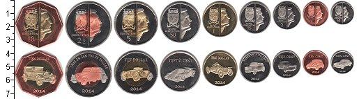 Изображение Наборы монет Остров Святого Евстафия Остров Святого Евстафия 2014  UNC- В наборе 9 монет ном