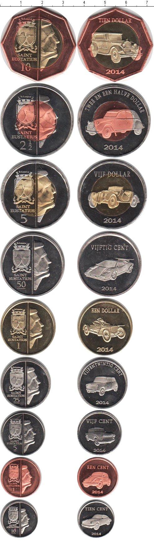 Картинка Наборы монет Остров Святого Евстафия Остров Святого Евстафия  2014