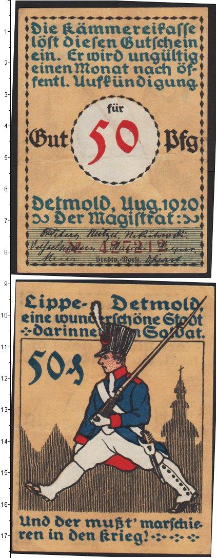 Картинка Боны Германия : Нотгельды 50 пфеннигов  1920