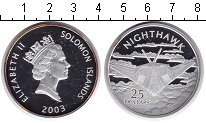 Изображение Монеты Соломоновы острова 25 долларов 2003 Серебро Proof- Елизавета II. Самоле