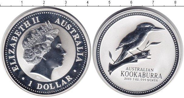 Картинка Монеты Австралия 1 доллар Серебро 2003