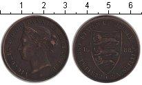 Изображение Монеты Остров Джерси 1/12 шиллинга 1888 Медь XF Виктория