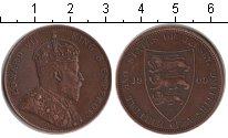 Изображение Монеты Остров Джерси 1/12 шиллинга 1909 Медь XF Эдвард VII