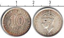 Изображение Монеты Малайя 10 центов 1941 Серебро XF Георг VI