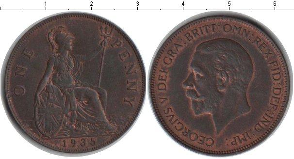 Картинка Монеты Великобритания 1 пенни Медь 1935