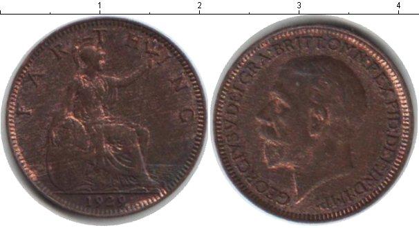Картинка Монеты Великобритания 1 фартинг Медь 1929