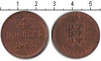 Изображение Монеты Гернси 4 дубля 1945 Медь XF