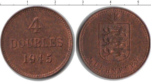 Картинка Монеты Гернси 4 дубля Медь 1945