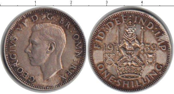 Картинка Монеты Великобритания 1 шиллинг Серебро 1939