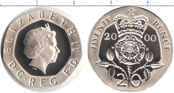 Картинка Монеты Великобритания 20 пенсов Медно-никель 2000