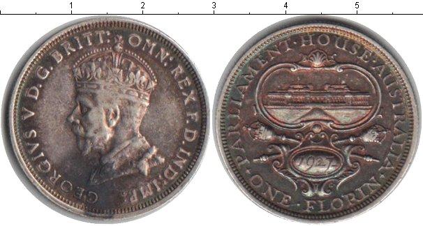 Картинка Монеты Австралия 1 флорин Серебро 1927