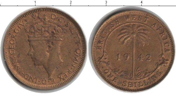 Картинка Монеты Западная Африка 1 шиллинг  1942