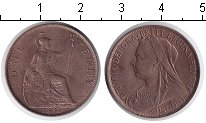 Изображение Монеты Великобритания 1 пенни 1897 Медь XF Виктория