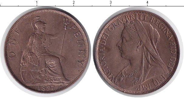 Картинка Монеты Великобритания 1 пенни Медь 1897