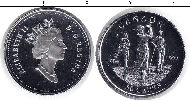 Картинка Монеты Канада 50 центов Серебро 1999