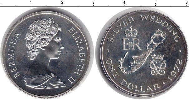 Картинка Монеты Бермудские острова 1 доллар Серебро 1972