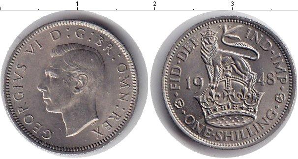 Картинка Монеты Великобритания 1 шиллинг Медно-никель 1948