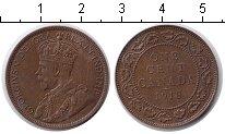 Изображение Монеты Канада 1 цент 1918 Медь XF Георг V
