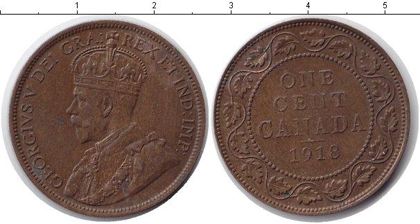 Картинка Монеты Канада 1 цент Медь 1918