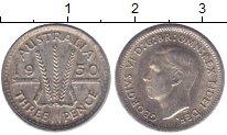 Изображение Мелочь Австралия 3 пенса 1948 Серебро  Георг VI