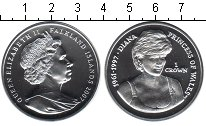 Изображение Монеты Фолклендские острова 1 крона 2007 Серебро Proof Принцесса Диана