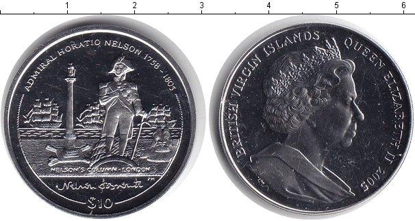 Картинка Монеты Виргинские острова 10 долларов Медно-никель 2005