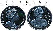 Изображение Монеты Фолклендские острова 1 крона 2007 Серебро Proof- Елизавета II Леди Ди