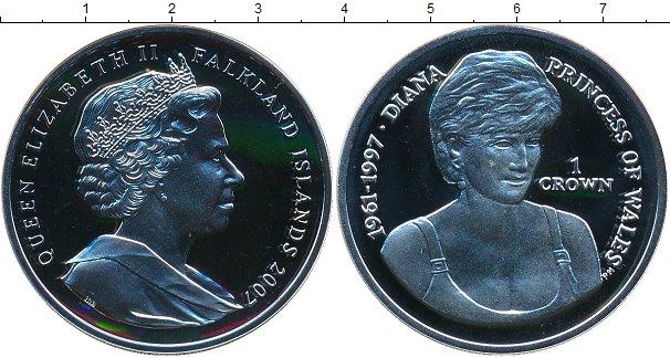 Картинка Монеты Фолклендские острова 1 крона Серебро 2007