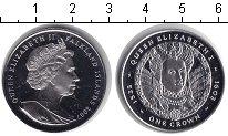 Изображение Монеты Фолклендские острова 1 крона 2007 Серебро Proof- Королева Елизавета I