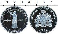 Изображение Монеты Гамбия 20 даласи 1996 Серебро Proof- Королева-Мать.