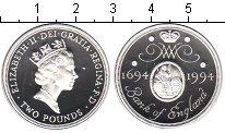 Изображение Монеты Великобритания 2 фунта 1994 Серебро Proof 300-летие Банка Англ