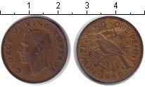 Изображение Монеты Новая Зеландия 1 пенни 1946 Медь XF Георг VI.