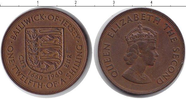 Картинка Монеты Остров Джерси 1/12 шиллинга Медь 1960