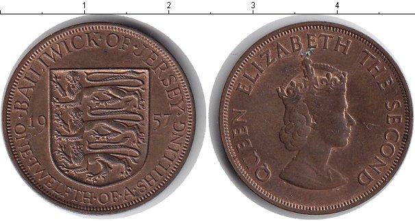 Картинка Монеты Остров Джерси 1/12 шиллинга Медь 1957
