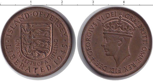 Картинка Монеты Остров Джерси 1/12 шиллинга Медь 1945
