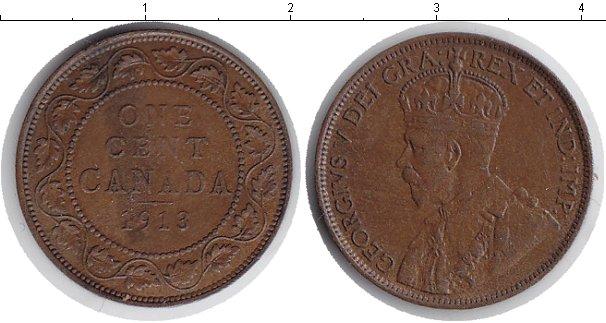 Картинка Монеты Канада 1 цент Медь 1913