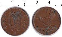 Изображение Монеты Ирландия 1 пенни 1942 Медь XF квочка