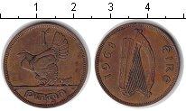 Изображение Монеты Ирландия 1 пенни 1968 Медь XF квочка