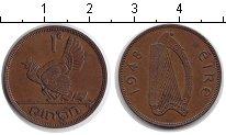 Изображение Монеты Ирландия 1 пенни 1948 Медь XF квочка