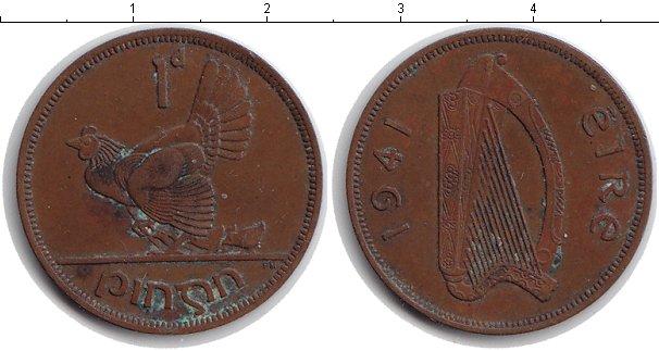 Картинка Монеты Ирландия 1 пенни Медь 1941