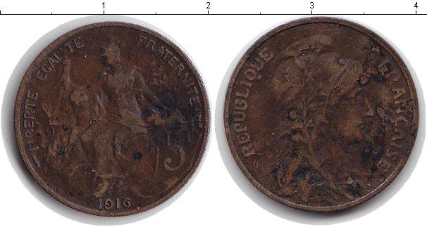 Картинка Монеты Франция 5 сантим Медь 1916