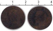 Изображение Монеты Франция 5 сантим 1856 Медь VF Наполеон III