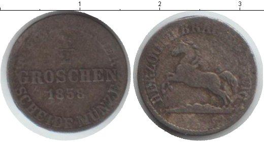 Картинка Монеты Брауншвайг-Вольфенбюттель 1/2 гроша Серебро 1858