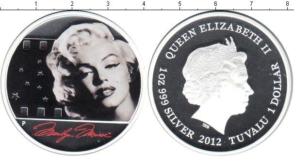 Картинка Монеты Тувалу 1 доллар Серебро 2012