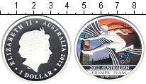 Изображение Монеты Австралия 1 доллар 2012 Серебро Proof Елизавета II. Олимпи