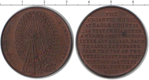 Картинка Монеты Великобритания жетон Медь 1899