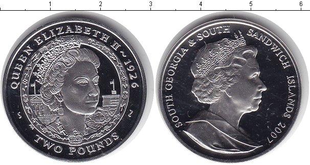 Картинка Монеты Сендвичевы острова 2 фунта Серебро 2007