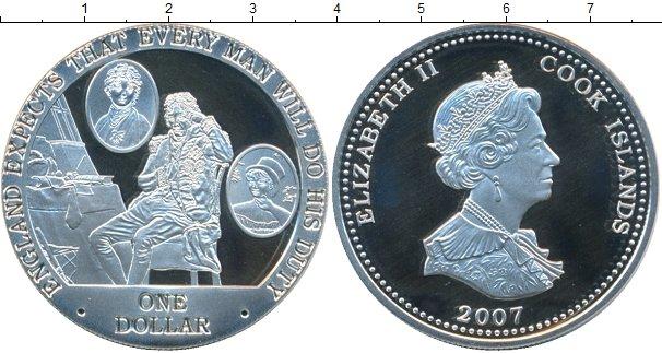 Картинка Монеты Острова Кука 1 доллар Серебро 2007
